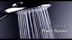 Режимы струи <b>ручного душа GROHE Power&Soul</b>: Rain - YouTube