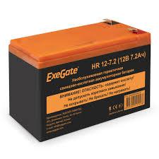 <b>Аккумуляторная</b> батарея <b>ExeGate</b> HR 12-7.2 (12V 7.2Ah 1227W ...