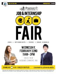 job and internship fair international studies college of event flyer