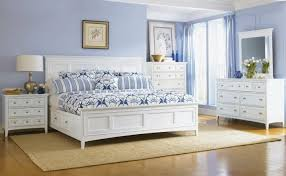 bedroom blue light blue beige carpet the walls white furniture blue and white furniture