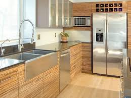 kitchen modern cabinets designs: contemporary kitchen with bamboo cabinets and stainless steel countertops