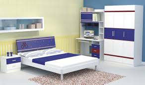 f most popular blue and white color ikea bedroom furniture ideas for children boys of the feature low profile bed and corner desk study beside tall boys childrens bedroom furniture