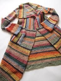 Virkattu raidallinen villatakki - väriskaala kotikulmieni vanhoista ...