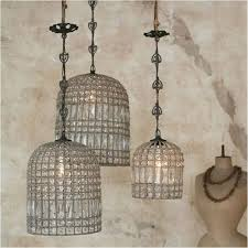 image of beaded chandelier cage beaded lighting