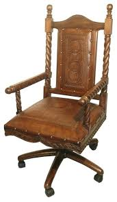 mediterranean style colonial leather swivel office chair antique brown office chairs antique leather office chair