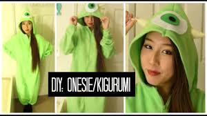 DIY: <b>Mike</b> Wazoski <b>Onesie</b>/Kigurumi - YouTube