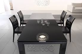diamond modern dining table by rossetto diamond modern dining table by rossetto black lacquer dining room