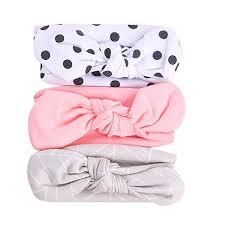<b>3Pcs</b> Cute <b>Baby</b> Girls Kids Stretch Bowknot Headband Hairband ...