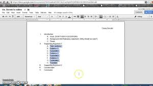 google essay outline how to format an outline on google docs for argument paper