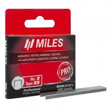 <b>Скоба</b> для степлера <b>MiLES тип 53</b>, PRO, 4 мм. (N3-4 mm.) - в ...