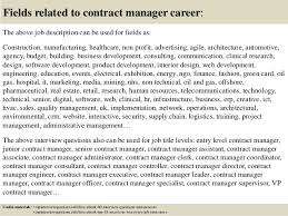 17 fields related to contract manager career the above job description contract manager job description