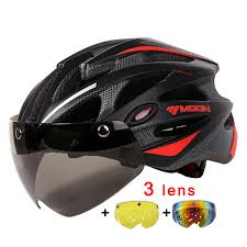 <b>MOON</b> Magnetic Goggles 275g <b>MTB</b> Road Mountain <b>Cycling Helmet</b> ...
