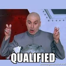 QUALIFIED - Dr Evil meme | Meme Generator via Relatably.com