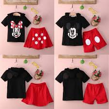 Mouse Clothing Twins <b>Suit</b> Children's Cartoon <b>Two piece</b> Cotton ...