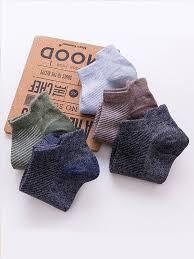 Buy <b>Men's</b> Sneaker Socks <b>5 Pairs</b> Breathable Comfy Socks ...