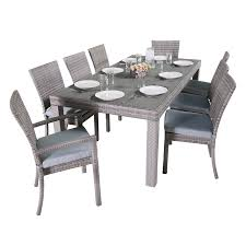 wood piece dining set cushioned home outdoors patio furniture patio furniture sets patio dining sets