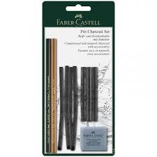 <b>Набор угля и угольных</b> карандашей Faber-Castell Pitt Charcoal 10 ...