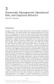 humanistic management operational risk and employee behavior inside