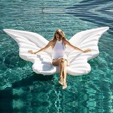 New Butterfly <b>Wings Inflatable</b> Lounge Chair PVC <b>Inflatable</b> Bed ...