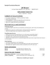 bartending resumes sample job and resume template bartender resume job description