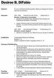sample teacher resume like the bold name with line teacher resume templates