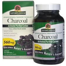 Nature's Answer, <b>Charcoal</b>, <b>Activated Purified Carbon</b>, 560 mg, 90 ...