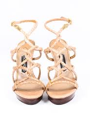 <b>Tom Ford</b> Brown Snakeskin Strappy <b>Stiletto</b> Sandals | Luxury ...