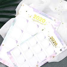 2020 Year Calendar Index Dividers Watercolor Refill for <b>A5A6 6</b> ...