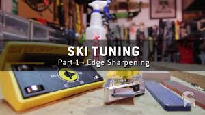 How to Tune Skis Part 1- How to Sharpen Ski Edges - YouTube