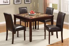 simple dining table design dark rustic cheap kitchen sets with square table design dark color ton
