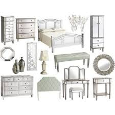hayworth mirrored furniture collection hayworth dresser polyvore added drama mirrored bedroom furniture