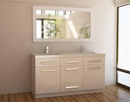 bathroom vanity 60 inch:  inch modern double sink bathroom vanity in white finish