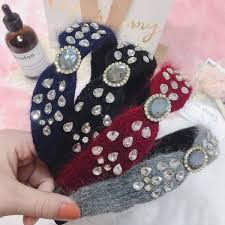 <b>Korea Handmade Velvet Crystal</b> Retro Hair Accessories Hair Band ...