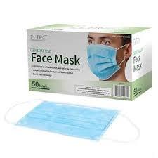 FLTR General Use <b>Face Mask</b>, 50 <b>Disposable</b> Masks