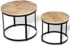 CUORE BANGKOK Two Piece Coffee Table Set ... - Amazon.com