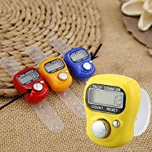 KinshopS 1pc Creative Stitch Marker LCD Electronic <b>Finger</b> Ring ...