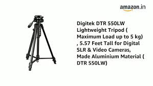 Buy DIGITEK DTR 550 LW <b>Tripod</b> for <b>DSLR</b>, <b>Camera</b> |Operating ...