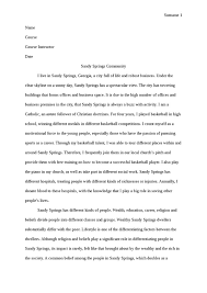 sandy springs community anthropology essay   studentshare sandy springs community essay example