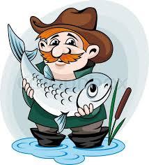 <b>Fisherman</b> catch big fish. Vector ... | Stock vector | Colourbox