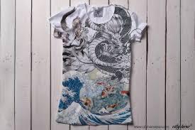 """""""ASIA"""" #cityhero #tee #teeshirt #tshirt #asia #hokusai #dragon ..."""