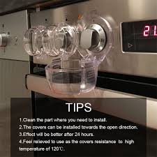 8PCS Clear Stove Knob Safety Covers Child <b>Protection Gas Cooker</b> ...