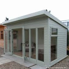 outdoor office needs some landscaping but great building build garden office kit