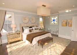 impressive flokati rug in bedroom contemporary with decorate with leather furniture next to blue bedroom alongside blue and brown and chocolate brown couch blue walls brown furniture