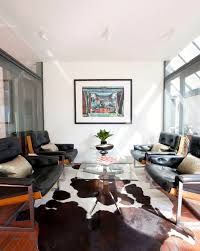 home office traditional design ideas with staggering animal rug bay spectacular cowhide rug decorating ideas for living room midcentury design ideas animal hide rugs home office