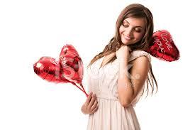Женщина С Сердечками «я Тебя Люблю» Стоковые фотографии ...