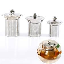 <b>Reusable</b> Stainless Steel <b>Mesh Tea Infuser</b> With Lid – Dr Red ...