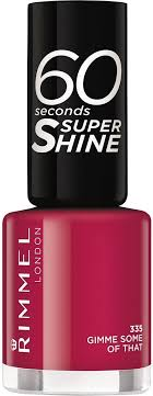 <b>Лак для ногтей</b> Rimmel <b>60</b> Seconds Super Shine, тон 335, 8 мл ...
