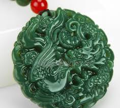 Beautiful Natural Green HeTian Jade Carved <b>Chinese</b> Dragon ...