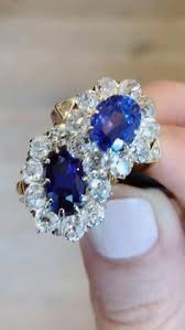 Details about <b>Queen Royal Ocean Blue</b> 18K Plate White Gold ...