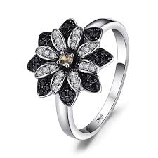<b>JewelryPalace Flower</b> Round Genuine <b>Taupe</b> Smoky Quartz Black ...